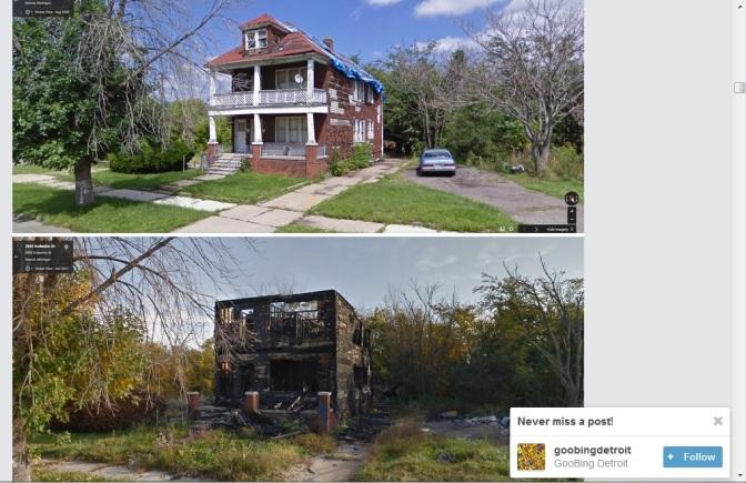 Detroit's decline captured on Street View